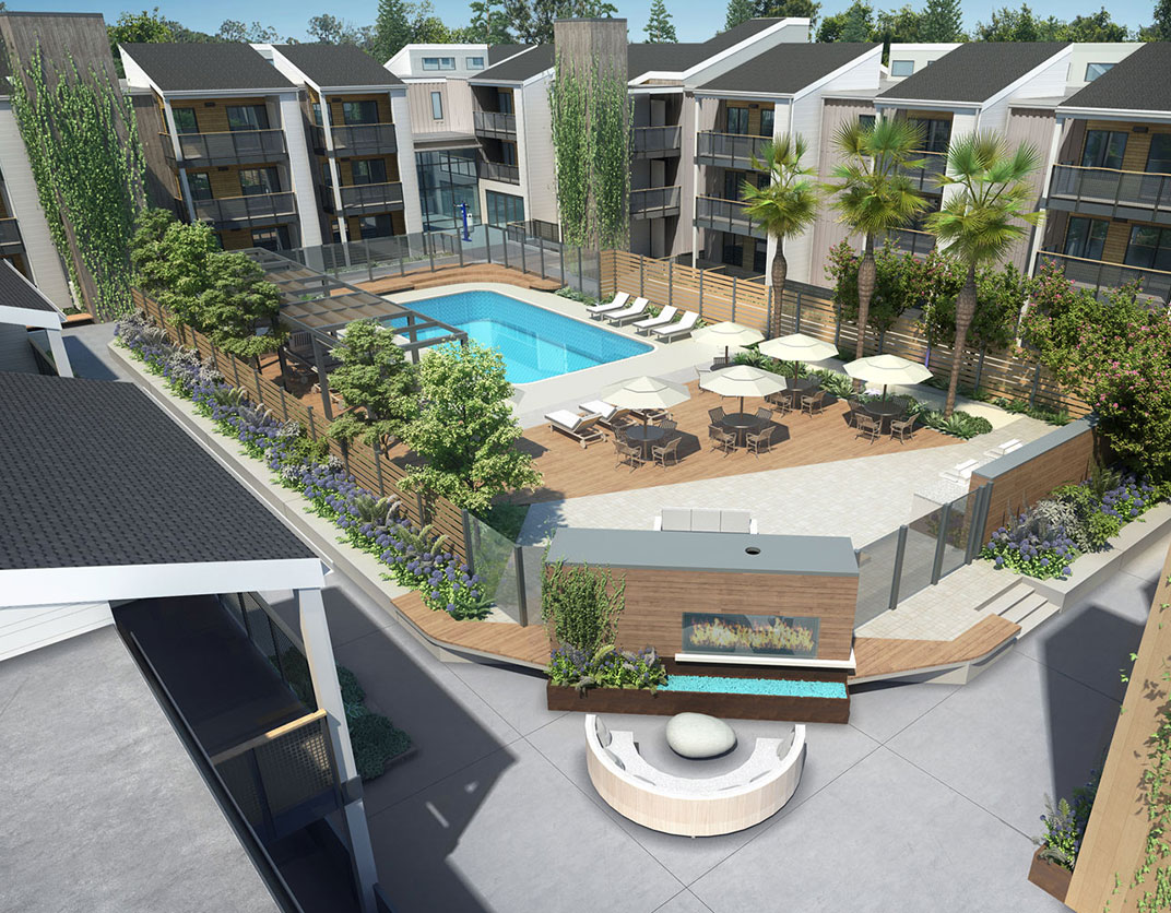 707 Leahy - Redwood City, CA - Outdoor Pool Area