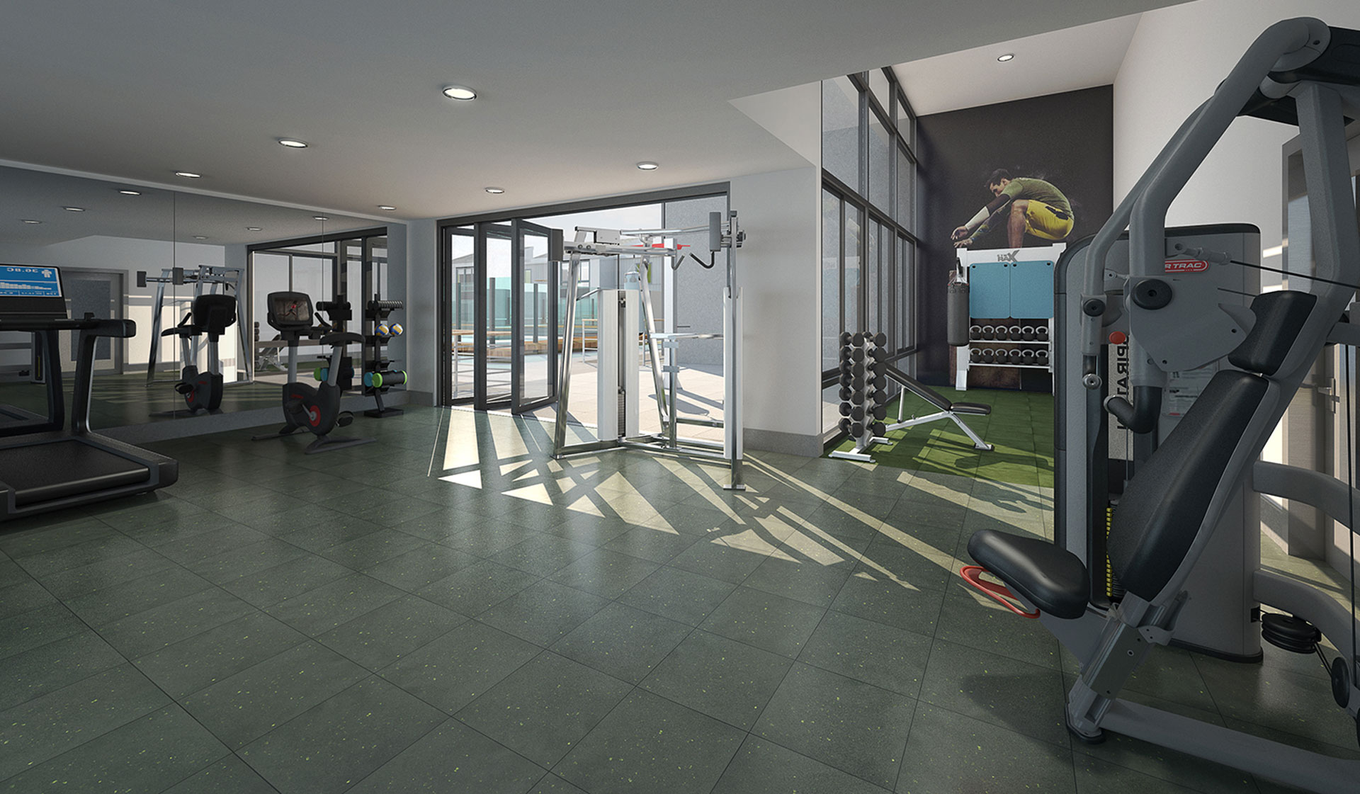 707 Leahy Apartments in Redwood City, CA - fitness